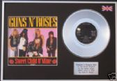 "GUNS N' ROSES-7""PlatinumDisc+cover-SWEET CHILD O' MINE"